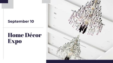 Plantilla de diseño de Elegant crystal Chandeliers offer FB event cover