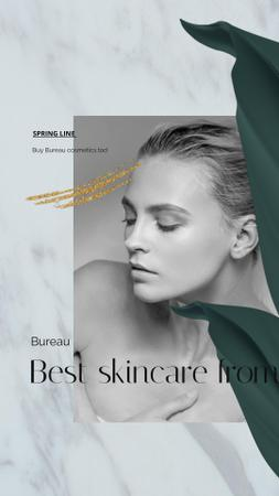Skincare products ad on Women's Day Instagram Video Story Design Template