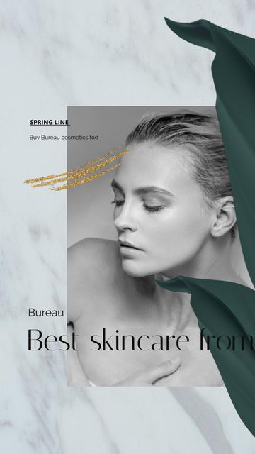 Plantilla de diseño de Skincare products ad on Women's Day Instagram Video Story