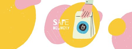 Plantilla de diseño de Delivery Services offer on Quarantine Facebook cover