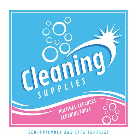Ontwerpsjabloon van Instagram van Cleaning supplies advertisement
