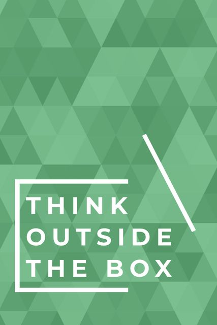 Ontwerpsjabloon van Tumblr van Think outside the box quote on green pattern