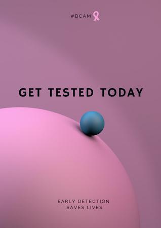 Breast Cancer Check-up Motivation Poster – шаблон для дизайну