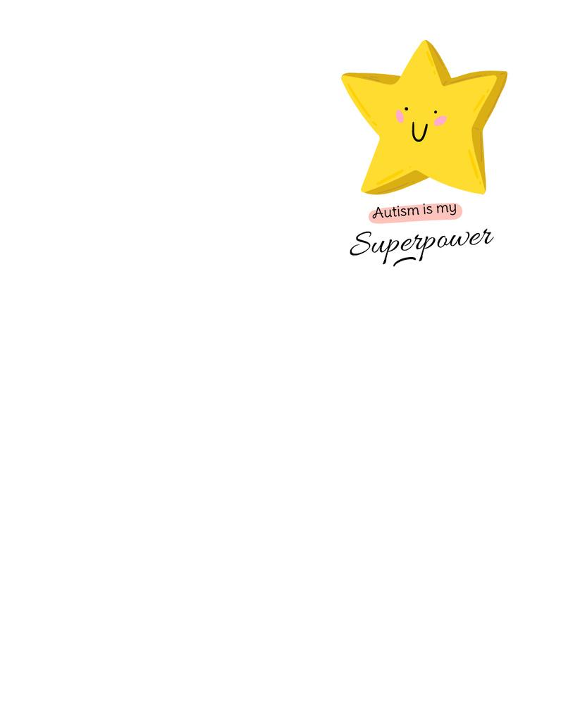 Cute Yellow Star with Quote — Maak een ontwerp