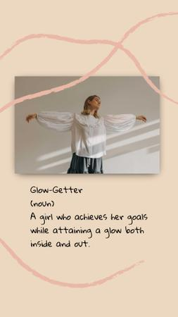 Plantilla de diseño de Inspirational Citation with Young Woman Instagram Story