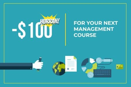Template di design Discount for Management Course Gift Certificate