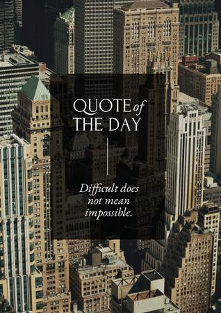Business Quote with City Skyscrapers Poster – шаблон для дизайну
