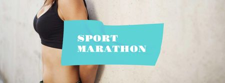 Modèle de visuel Sport Marathon Ad with Fit Female Body - Facebook cover