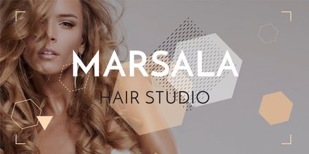 Hair studio Offer with Beautiful Woman Twitter – шаблон для дизайну
