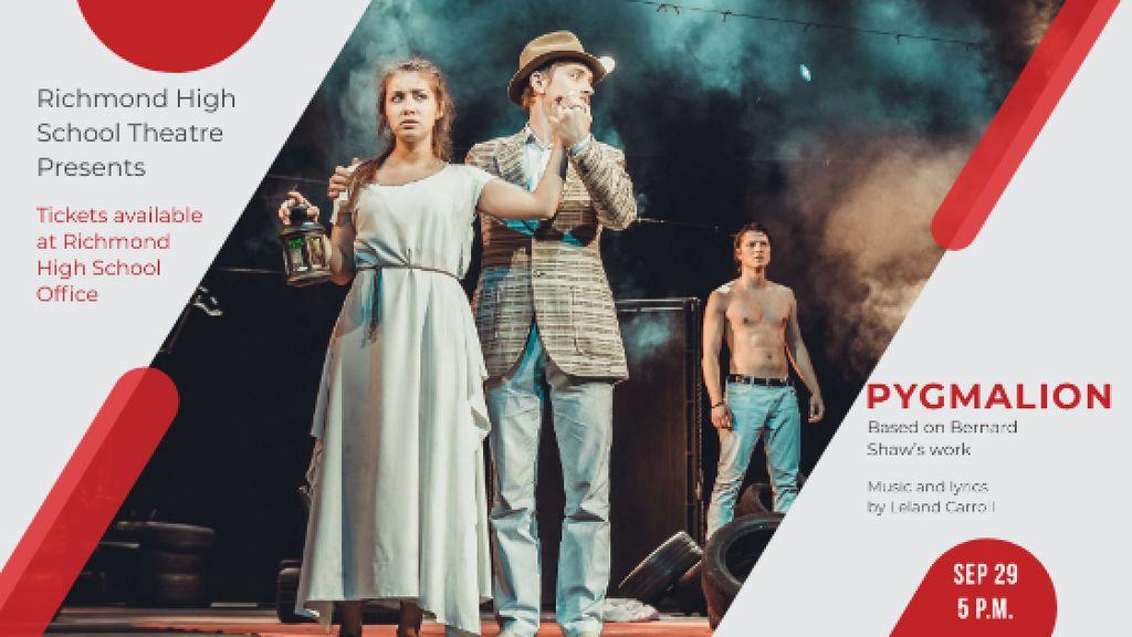 Theater Invitation Actors in Pygmalion Performance — Створити дизайн
