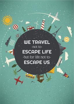 Travel inspiration with slogan