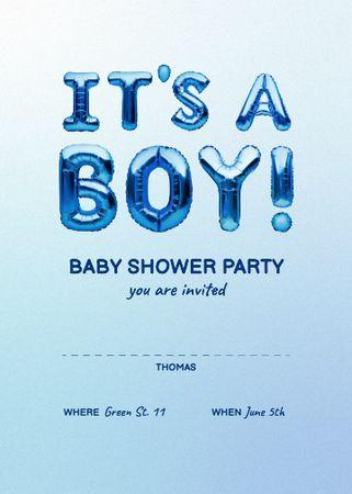 Baby Shower Bright Announcement Invitation Modelo de Design