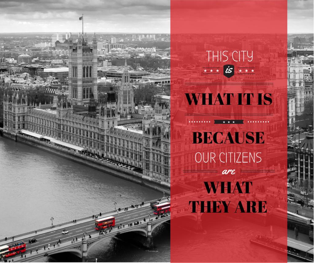 City quote with London view — Modelo de projeto