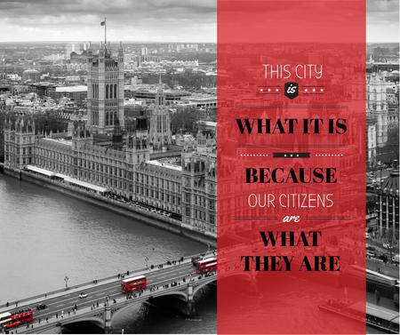 Plantilla de diseño de City quote with London view Facebook