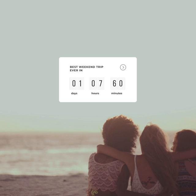 Modèle de visuel Friends resting on Beach - Animated Post