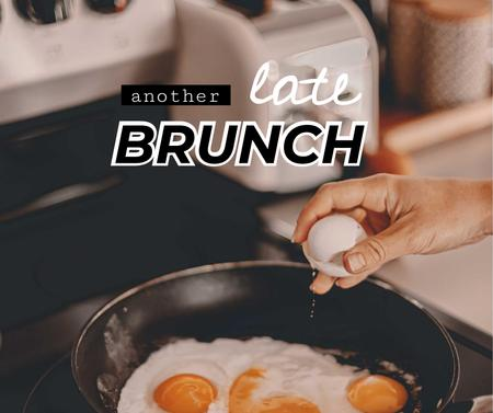 Template di design Fried Eggs for Late Brunch Facebook