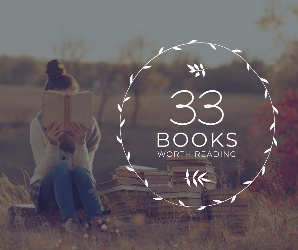 Reading Inspiration Woman Holding Book — Modelo de projeto