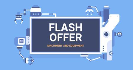 Machinery and Equipment Sale Offer Facebook AD Modelo de Design
