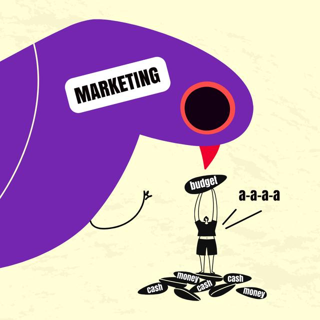 Funny Joke about Marketing and Budget Instagram Modelo de Design