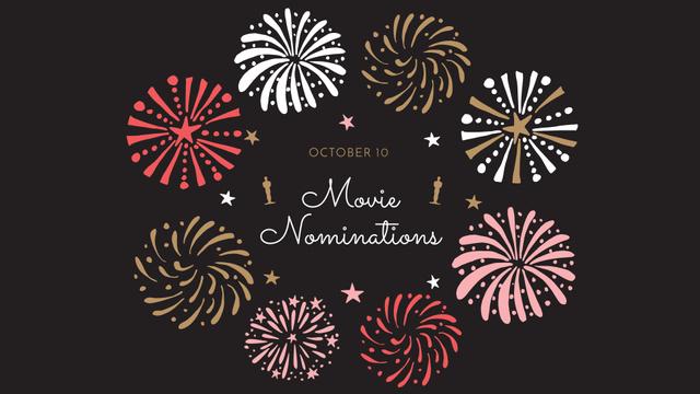 Plantilla de diseño de Oscar Event Announcement with Fireworks FB event cover