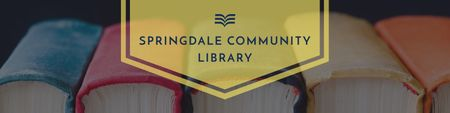 Modèle de visuel Community library Ad with Books Row - Twitter