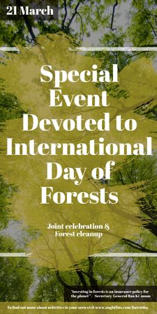 International Day of Forests Event Tall Trees Graphic Tasarım Şablonu