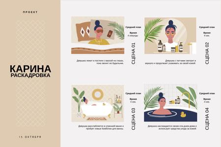 Morning Beauty routine Storyboard – шаблон для дизайна