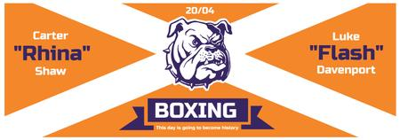 Plantilla de diseño de Boxing Match Announcement Bulldog on Orange Tumblr
