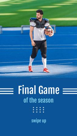 Football Match Announcement with Player holding Ball Instagram Story – шаблон для дизайна