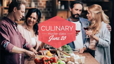 Ontwerpsjabloon van FB event cover van People Eating Dinner Together