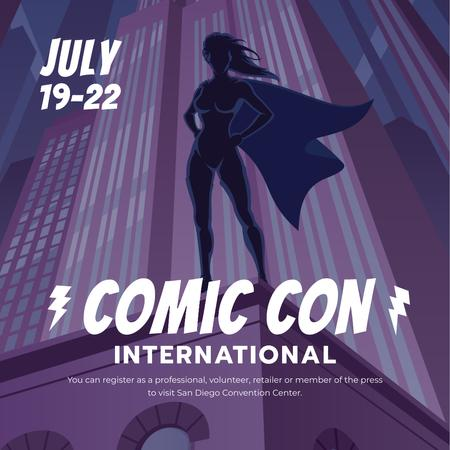 Comic Con International event Announcement Instagram – шаблон для дизайна