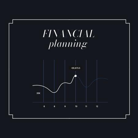 Financial Planning with Chart Animated Post – шаблон для дизайна
