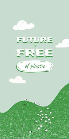 Modèle de visuel Eco Concept with Green Hill illustration - Graphic