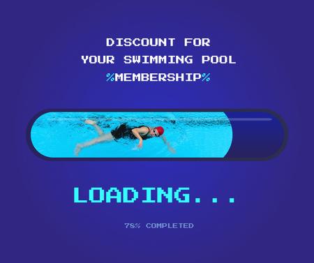 Discount for Swimming Pool Membership Facebook Modelo de Design