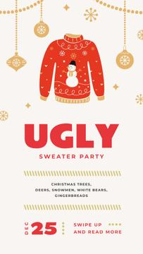 Red Christmas sweater Party