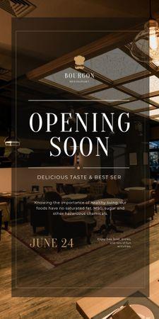 Ontwerpsjabloon van Graphic van Restaurant Opening Announcement with Classic Interior