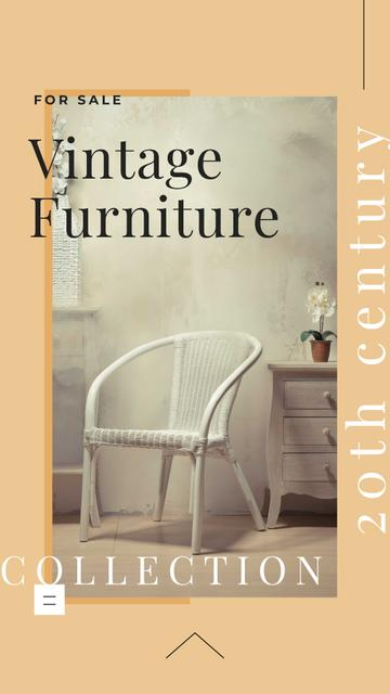 Template di design Vintage Furniture Offer with Stylish Chair Instagram Story