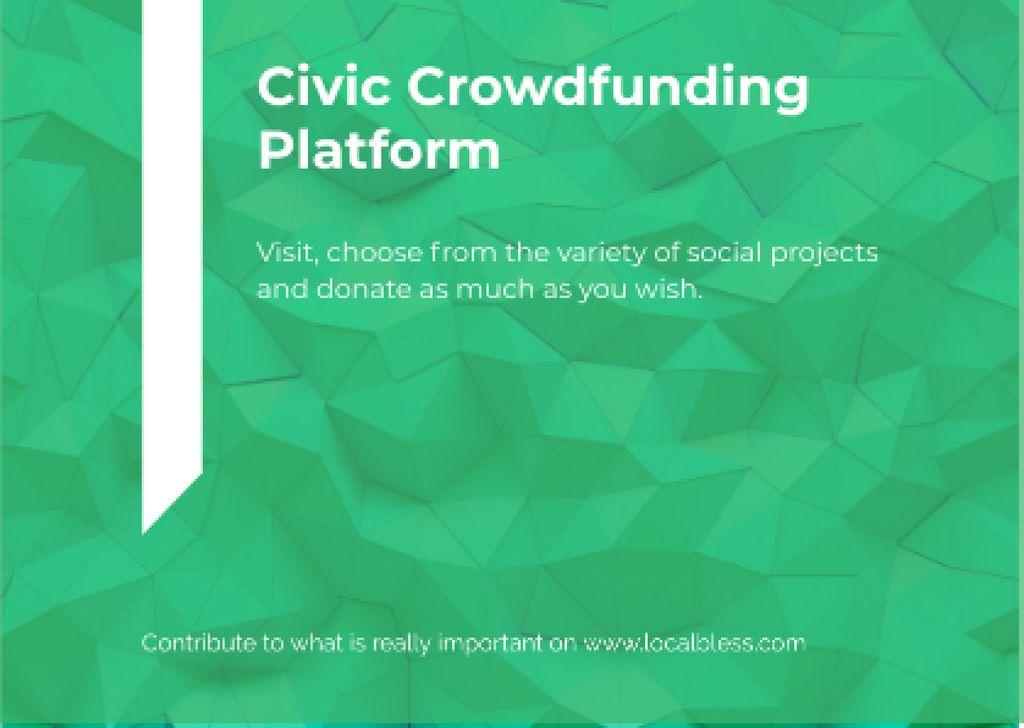 Civic Crowdfunding Platform — Crea un design