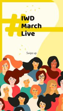 Diverse women portraits for 8 March