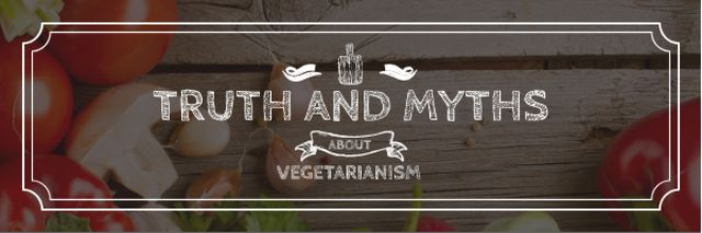 Plantilla de diseño de Truth and myths about Vegetarianism Email header