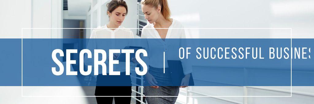 Secrets of successful business poster Twitter – шаблон для дизайна