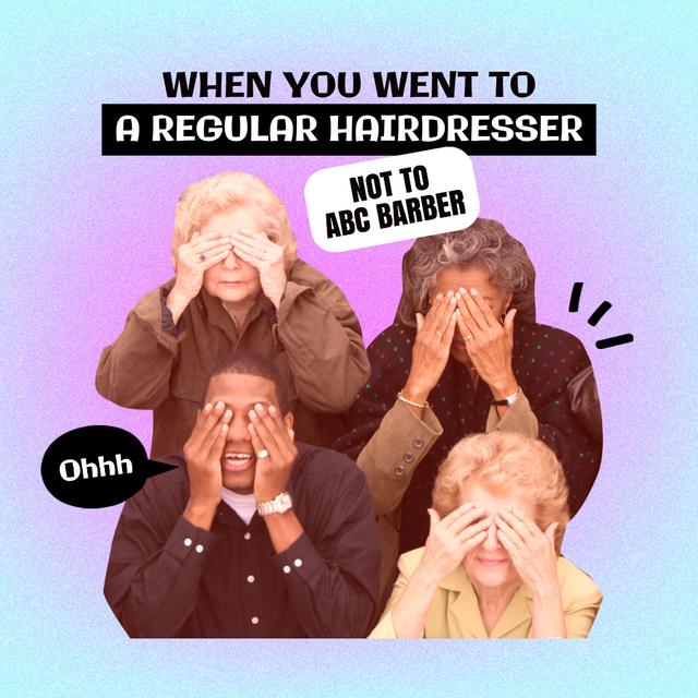 Joke about visiting Hairdresser Instagramデザインテンプレート