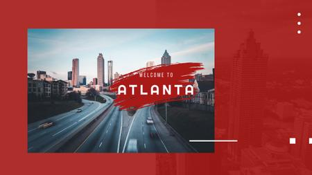 Designvorlage Atlanta city view für Youtube