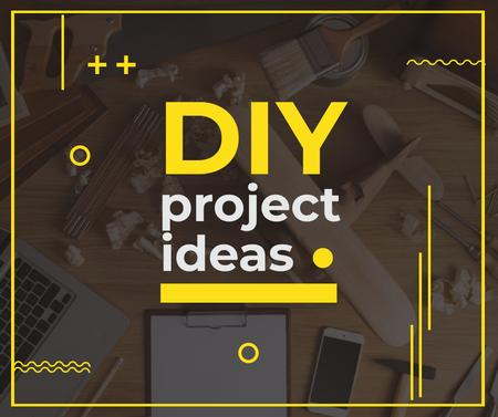 Plantilla de diseño de Diy Project Working Table in Mess Facebook