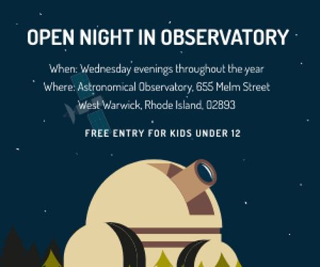 Open night in Observatory Medium Rectangle Modelo de Design