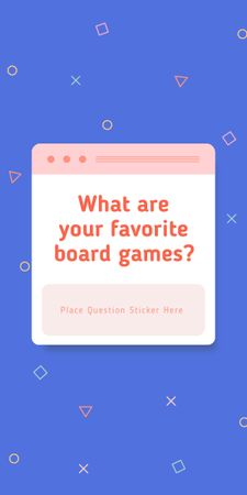 Favorite Board Games question on blue Graphic – шаблон для дизайна