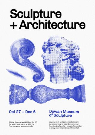 Modèle de visuel Sculpture and Architecture Exhibition Announcement - Poster