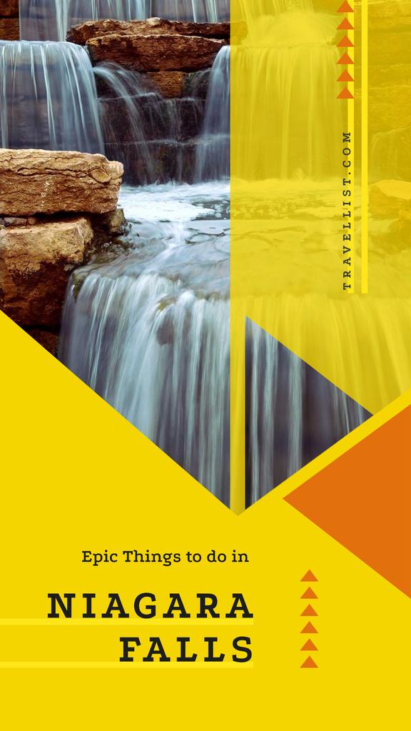 Scenic waterfall view — Crear un diseño