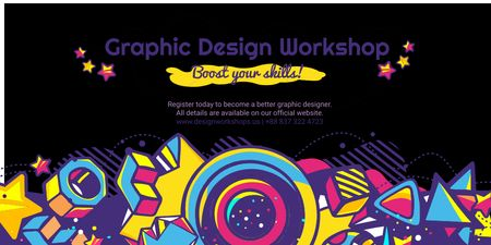 Plantilla de diseño de Graphic design workshop Twitter