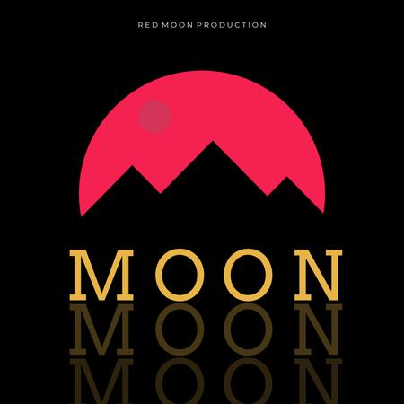 Music Album Promotion with Mountains Silhouette Album Cover Modelo de Design